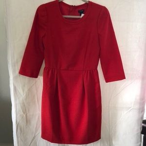 New J.Crew Red lined dress